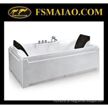 Alta qualidade retângulo 2-assento acrílico freestanding banheira (ba-8708)