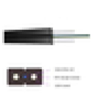 G657A / G652D FTTH câble intérieur 1/2/4/12 Core Self-support FTTH Câble téléphonique aérien avec jaquette LSZH, câble de dérivation FTTX