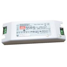 Original MEANWELL 30 W a 100 W PLC serie terminal tornillo led controlador 48vdc para 48v llevó la luz PLC-45-48