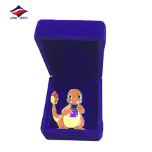 Customized iron silver plating children pin with butterfly clutch