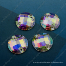 Ab Color Round Sew on Stones Strass