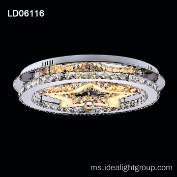 lampu candelier besi moden lampu Kristal siling