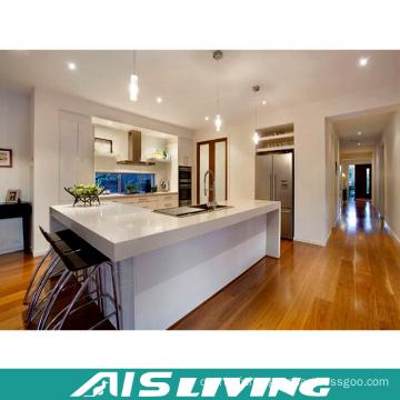 Armoires de cuisine durables à haute brillance pour la petite cuisine (AIS-K258)
