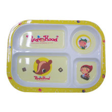 100% Melamine Dinnerware - Kid′s Series Children Divided Plate/ (MRH18001) Kid′s Giftware