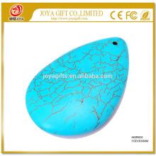 Semi piedra preciosa turquesa Waterdrop collar de joyería colgante