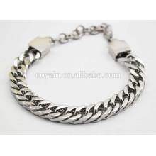 Lobster clasp 25cm silver chain link men's cool bracelets