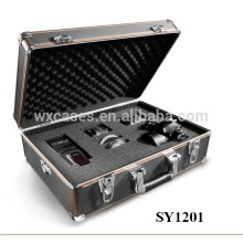 strong aluminum photography case with custom foam insert