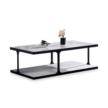 Modern Luxury Center Coffee Side Table with Artificial Marble Top