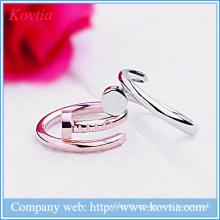 Metal split anel de design aberto unha anéis jóias moda modelagem anel yiwu