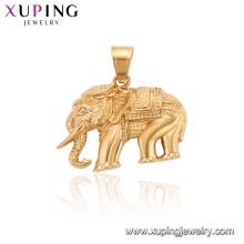34200 xuping plaqué or animal éléphant pendentif charme bijoux