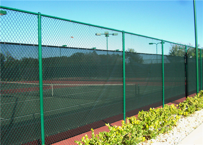 50mm Mesh 8 Gauge Vinyl Coated Bonded Chain Link Fence Fabric