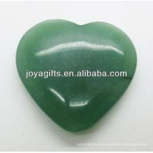 Forma verde natural del corazón del aventurine los 35MM