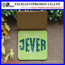 Promoção de impressão personalizada Best Selling Top Coaster Cork de qualidade (EP-C57302)