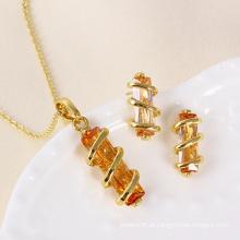 Xuping mais novo ouro banhado a moda feminina conjunto de jóias