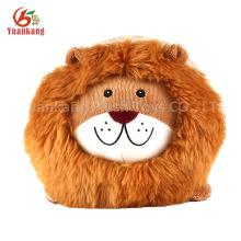 ICIT auditado fábrica rodada forma animal de pelúcia recheado brinquedo macio leão