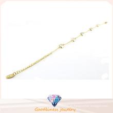 El oro barato al por mayor de la manera plateó la joyería con el acero inoxidable cristal Bracrlet Bt6642