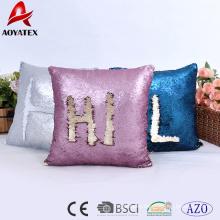 Fashion letter pattern design two tone sequins home decorative cushion, sofa cushion