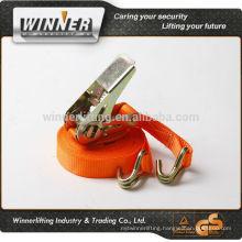100% polyester cargo lashing tie down ratchet strap
