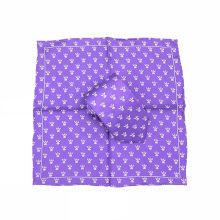 Custom Logo Printed Suits Tie and Hanky Sets for Men