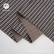 Tecido Jacquard Houndstooth de algodão para acessórios de vestuário