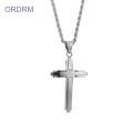 Custom Stainless Steel Cross Necklace Mens
