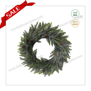 The Spring Real Touch Christmas Artificial Wreath Flower Artificial Flower pour Noël H30-H48cm