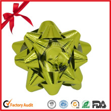 Customized Wholesale Metallic Embossed Star Bow