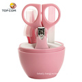 Baby easy hold chrome plated cute manicure pedicure set
