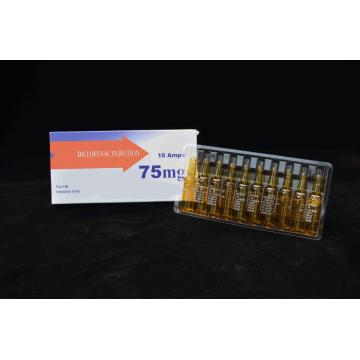 Diclofenaco sódico inyectable BP 75MG