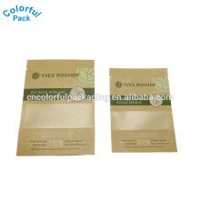 Alta Qualidade Por Atacado Personalizado Pequeno saco da folha de papel kraft para embalagem máscara