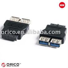 Conversor USB3.0 de placa principal 20pin a 2ports