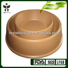 Biodegradável tigela de bambu pet tigela conjuntos