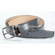 Man's 3.5cm black col formal PU belt