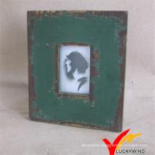 Cute Girl Antique Green Color Wooden Photo Frame