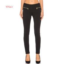 Zipper Front Pockets N Zipper Leg Opening Sexy Legging