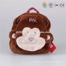 2016 popular animal head school plush bag for small kids