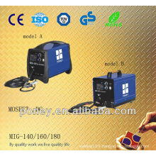 ce approved steel material inverter DC portable mig co2 gas welding kit
