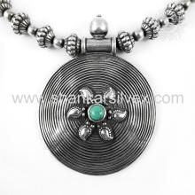 Joyería de plata hermosa de la joyería 925 del collar de la plata de la piedra preciosa de la turquesa Joyería de plata india de la joyería