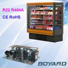 R22 r404a compresseur de refroidissement unité de condenseur pour vraies pièces de rechange réfrigérateur publicitaire île