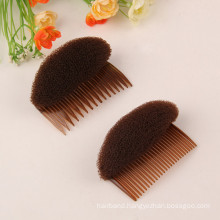 Brown Volume Hair Bow with Combs (HEAD-26)
