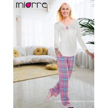 Miorre OEM de algodón de calidad turca de algodón colores elegantes pyjamas pijama set