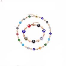Diy modèles conçoivent des ensembles de bijoux de perle de bracelet pour des dames