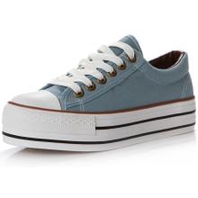Chaussures en toile pour jeunes étudiants avec dentelle