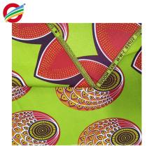 Tissu tissé par textile africain de cire véritable de polyester pur à vendre
