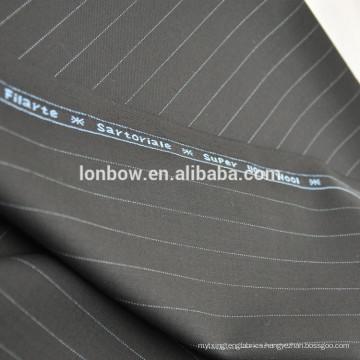 Black 100% merino wool pinstripe suit fabric china online store