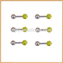 2014 Hot colorful crystal head barbell shape earring Stud Earring