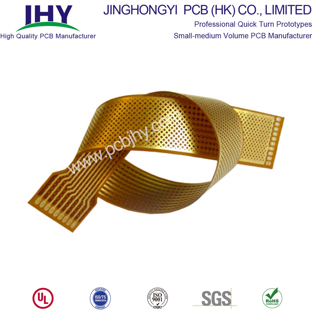 Yellow solder mask 2 Layer Flex PCB