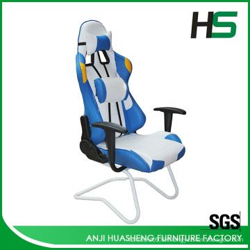 Weiß und Blau Kalt Eis Winter Stil Gaming Racing Stuhl