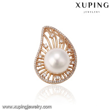 33254 Xuping top quality elegant pearl gold pendant precious stone jewelry for wedding