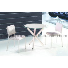 Modern Design Chopstick Round Dining Table with Chair
